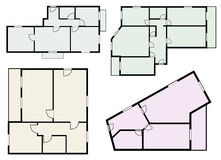 Flats scheme, view from above vector Royalty Free Stock Image