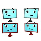 Flatscreen Faces 3d Stock Photography