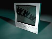 Flatscreen-Fernsehapparat Stockfoto