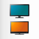 Flatscreens. LCD / Plasma TV on a white background (vector Royalty Free Stock Image