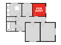 Free Flatsharing - Vacant Room For Sale And Rent Royalty Free Stock Photography - 97304387