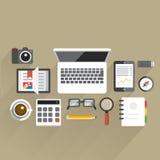 FlatTableOffice04 Stockfotografie