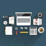 FlatTableOffice05 Stockbild