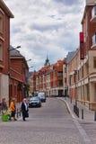 Flatte la rue au centre de la ville des Frances d'Amiens Picardie Image libre de droits