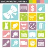 Flatten design shopping icons set Stock Image