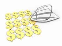 Flatten the Dollar Royalty Free Stock Photos