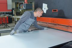 Flatten stainless steel plates. Plate royalty free stock photography