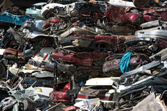 Flattened cars Royalty Free Stock Image