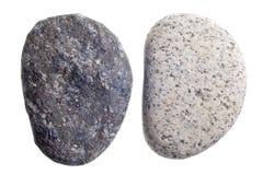 Flattened river rocks isolated on white background Stock Photography