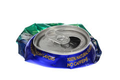 Flattened Soda Can Stock Photography