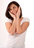 Flattered brunette Royalty Free Stock Image