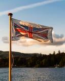 Flattern u. prachtvolles Union Jack stockbild