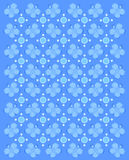 Flattern um Blau Stockbild