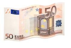Flatternder Euro Lizenzfreie Stockfotos