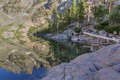 Flattop Mountain Spires Reflected Royalty Free Stock Photos