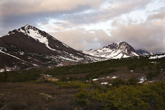 Flattop Mountain at Sunset Anchorage Alaska Stock Photography