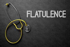 Flatulence Handwritten on Chalkboard. 3D Illustration. Medical Concept: Black Chalkboard with Flatulence. Medical Concept: Flatulence -  Black Chalkboard with Stock Photography