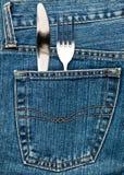 flatware τσέπη Στοκ Φωτογραφίες
