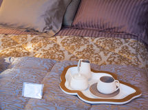 Flatware on the bed Stock Images