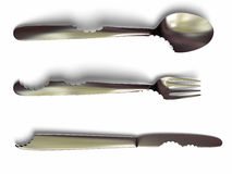 Flatware do bit Foto de Stock Royalty Free
