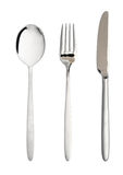 Flatware isolated, white background Stock Photos