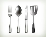 Flatware, vector objects Royalty Free Stock Photography