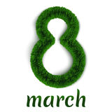 Flaumig März 8. Stockbilder