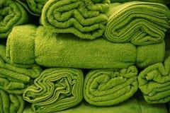 Flaumige grüne Tücher Stockbild