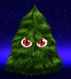 Flaumiger schlechter Tannenbaum mit Augen Lizenzfreie Stockfotos