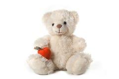 Flaumiger Teddybär Stockbild