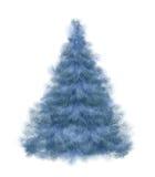 Flaumiger Wintertannenbaum bis zum neuem Jahr Stockfoto