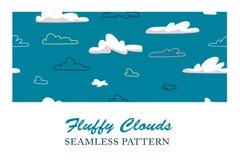 Flaumiges Wolken-Muster Stockbilder