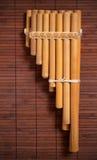Flauta andina da bandeja Fotografia de Stock Royalty Free