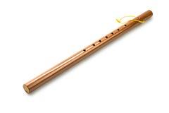 Flauta de bambú, aislada en blanco Imagen de archivo libre de regalías