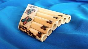 Flauta de bambu da bandeja Fotografia de Stock