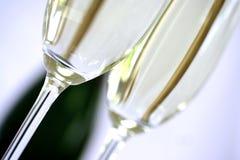 Flauta de champán del primer fotografía de archivo libre de regalías