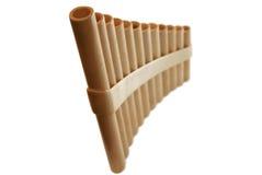 Flauta de la cacerola imagen de archivo libre de regalías