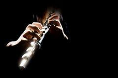 Flauta de los instrumentos de la orquesta imagen de archivo libre de regalías