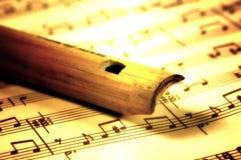 Flauta de madeira imagens de stock