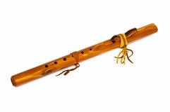 Flauta de madeira. Fotos de Stock