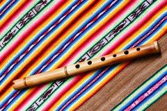Flauta de madera Fotos de archivo