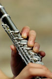 Flauta - detalle Imágenes de archivo libres de regalías