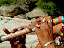 Flauta e anéis Imagens de Stock
