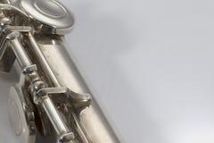 Flauta en el fondo blanco Fotos de archivo libres de regalías