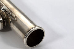 Flauta en el fondo blanco Fotografía de archivo libre de regalías
