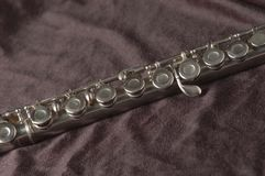 Flauta en negro imagen de archivo libre de regalías