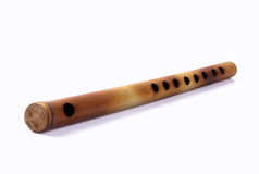 Flauta Handmade indiana imagem de stock