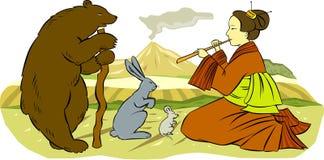 Flauta mágica ilustración del vector