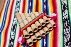 Flauta peruana da bandeja Fotos de Stock Royalty Free
