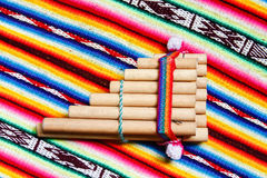Flauta peruana de la cacerola Imagen de archivo libre de regalías